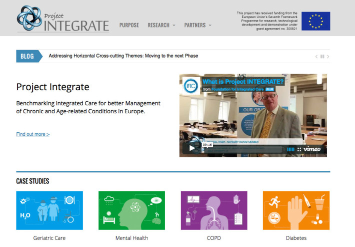 Project INTEGRATE launches new Integrated Care research website