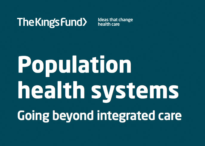 Population health systems: going beyond integrated care