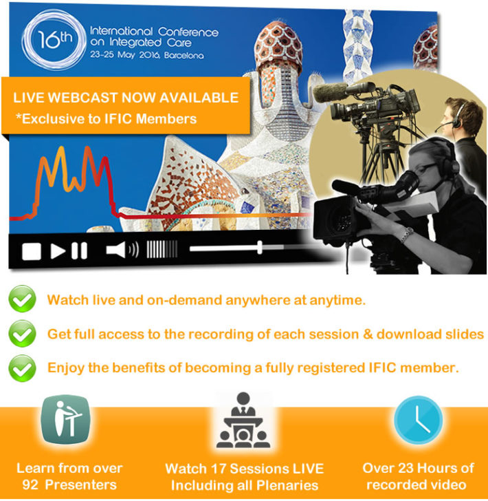 Good news. We're live streaming #ICI16 LIVE from Barcelona… Sign-up and Watch Anytime, Anywhere.
