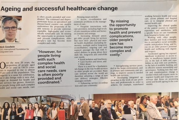 Read Dr Nick Goodwin's article for the Daily Congress publication, about 'Ageing and Successful Healthcare Change'