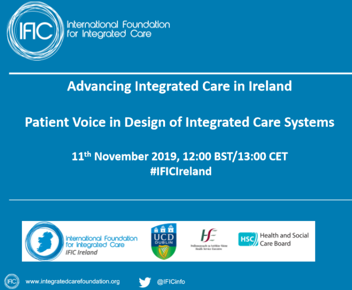 IFIC Ireland Webinar: Patient Voice in Design of Integrated Care Systems